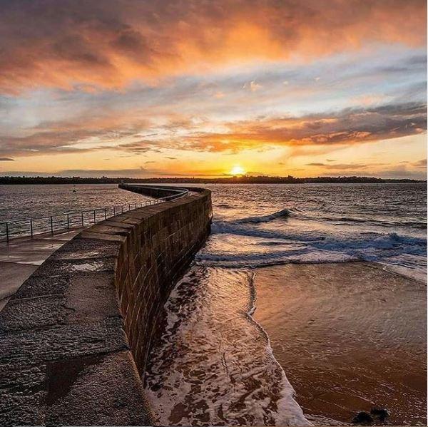 Les couchers de soleil à Saint-Malo Plage du môle Saint-Malo Bretagne