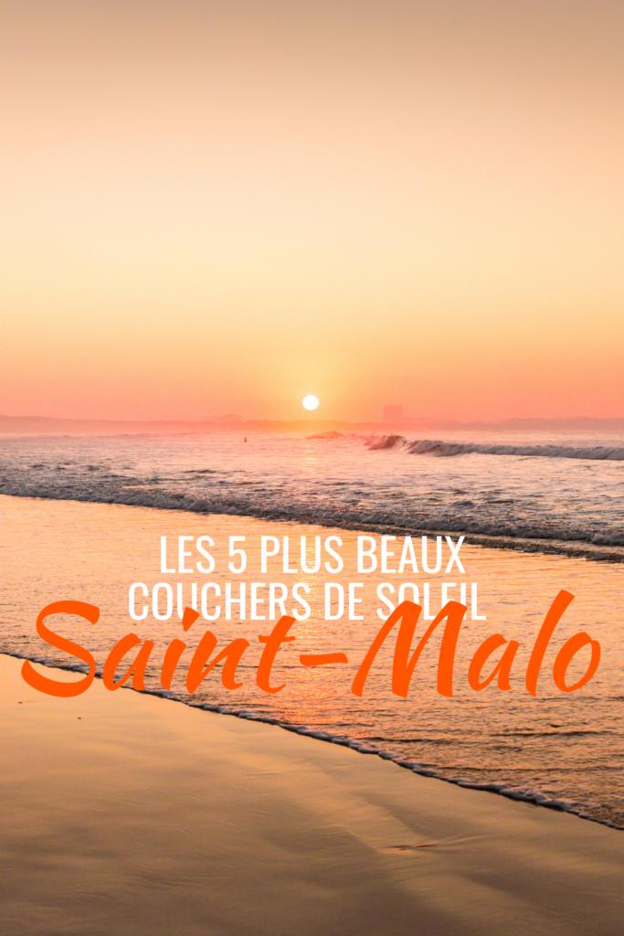 Les 5 plus beaux couchers de soleil Saint-Malo