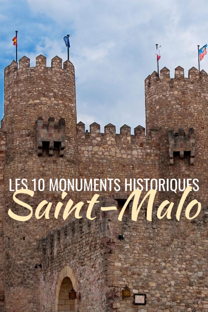 Les 10 monuments historiques Saint-Malo