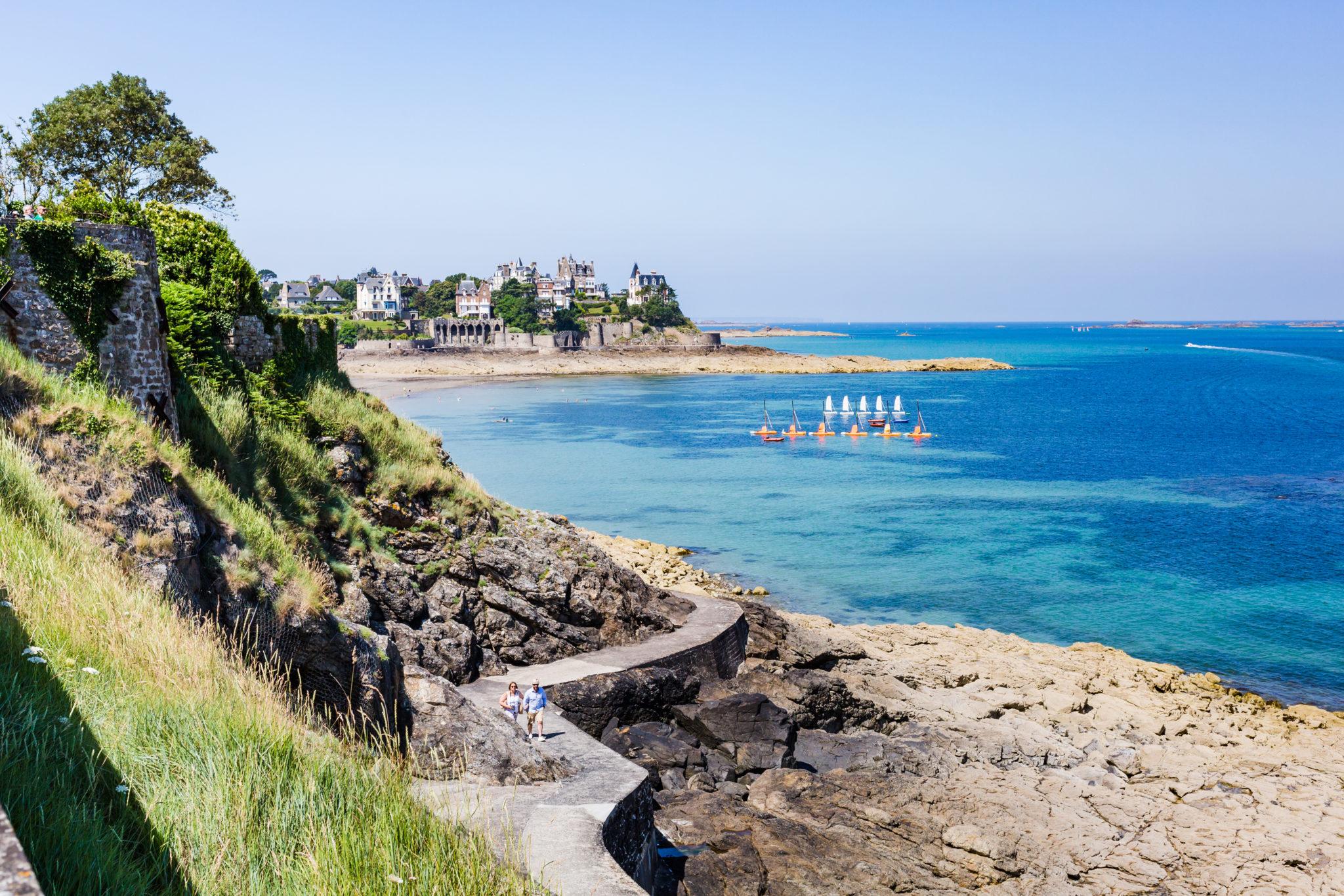 Dinard. Plus belles villes à visiter en Ille-et-Vilaine Bretagne.