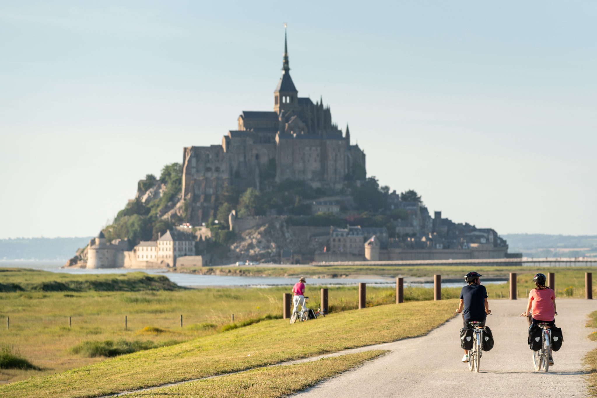 Le magnifique Mont Saint-Michel. Plus belles villes à visiter en Ille-et-Vilaine Bretagne.