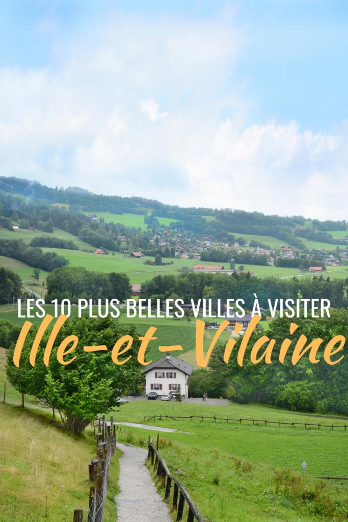 Les 10 plus belles villes à visiter en Ille-et-Vilaine